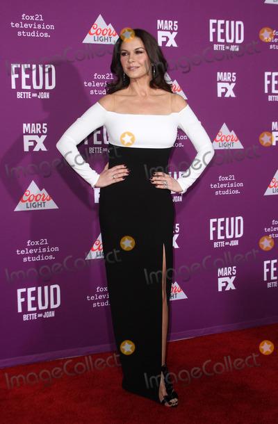 Catherine Zeta-Jones, Grauman's Chinese Theatre Photo - 1 March 2017 - Los Angeles, California - Catherine Zeta-Jones. FXs Feud: Bette and Joan Premiere held at the Graumans Chinese Theatre. Photo Credit: AdMedia