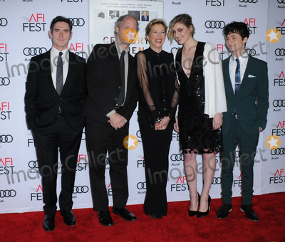 """Annette Bening, Audy, Billy Crudup, Greta Gerwig, Mike Mills Photo - 16 November 2016 - Hollywood, California. Billy Crudup, Mike Mills, Annette Bening, Greta Gerwig, Lucas Jade Zumann. AFI FEST 2016 Presented By Audi - A Tribute To Annette Bening And Gala Screening Of A24's """"20th Century Women"""" held at TCL Chinese Theater. Photo Credit: Birdie Thompson/AdMedia"""