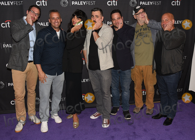 "Ben Newmark, Jameela Jamil, Joe Gatto, Dan Newmark, Brian Quinn, Andy Breckman, Joe Corré, Michael Bublé, Michael Paré Photo - 13 September 2019 - Beverly Hills, California - (L-R) Dan Newmark, Joe Gatto, Jameela Jamil, Brian Quinn, Ben Newmark, Andy Breckman and Michael Bloom. ""The Misery Index"" at The Paley Center For Media's 13th Annual PaleyFest Fall TV Previews - TBS. Photo Credit: Billy Bennight/AdMedia"