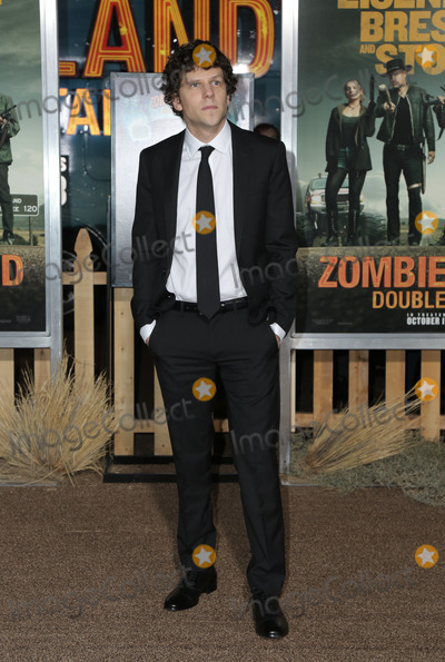 "Jesse Eisenberg Photo - 10 October 2019 - Westwood, California -Jesse Eisenberg. Premiere Of Sony Pictures' ""Zombieland: Double Tap"" held at Regency Village Theatre. Photo Credit: PMA/AdMedia"