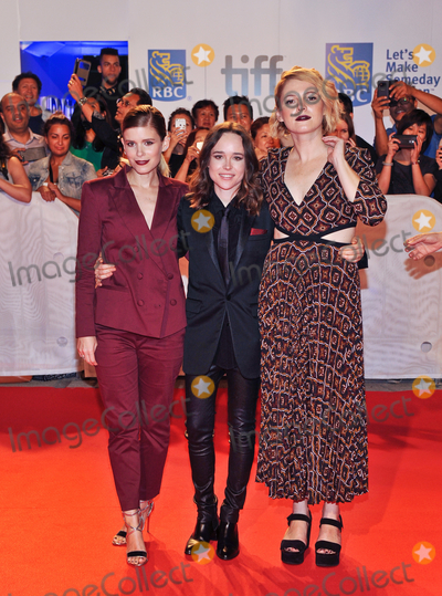 "Ellen Page, Kate Mara, Amy Seimetz Photo - 15 September 2017 - Toronto, Ontario Canada - Kate Mara, Ellen Page, Amy Seimetz.  2017 Toronto International Film Festival - ""My Days Of Mercy"" Premiere held at Roy Thomson Hall. Photo Credit: Brent Perniac/AdMedia"