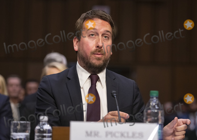 """Nick Pickles, The Unit Photo - Nick Pickles, Public Policy Director, Twitter testifies before the United States Senate Committee on Commerce, Science and Transportation on """"Mass Violence, Extremism, and Digital Responsibility"""" on Capitol Hill in Washington, DC on Wednesday, September 18, 2019. Photo Credit: Ron Sachs/CNP/AdMedia"""