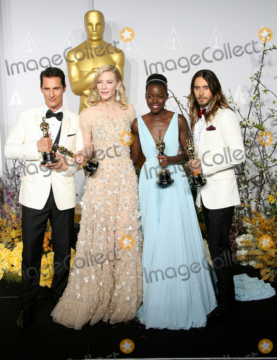 Cate Blanchett, Jared Leto, CATE BLANCHETTE, Lupita Nyong'o, Lupita  Nyong'o Photo - 02 March 2014 - Hollywood, California - Matthew McConaughey, Cate Blanchett, Lupita Nyong'o, Jared Leto. 86th Annual Academy Awards held at the Dolby Theatre at Hollywood & Highland Center. Photo Credit: AdMedia