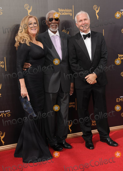 Morgan Freeman Photo - 11 September 2016 - Los Angeles, California. Lori McCreary, Morgan Freeman, James Younger. 2016 Creative Arts Emmy Awards - Day 2 held at Microsoft Theater. Photo Credit: Birdie Thompson/AdMedia