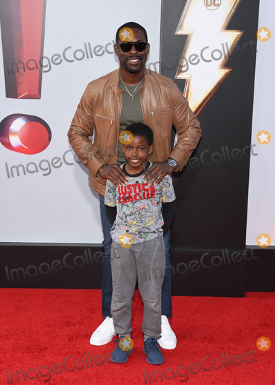 """Andrew Brown, TCL Chinese Theatre Photo - 28 March 2019 - Hollywood, California - Sterling K. Brown, Andrew Brown. Warner Bros. Pictures and New Line Cinema World Premiere of """"SHAZAM!"""" held at TCL Chinese Theatre. Photo Credit: Billy Bennight/AdMedia"""