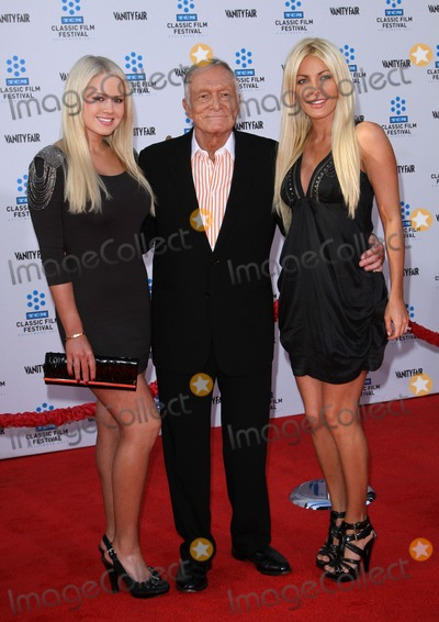 Hugh Hefner, Crystal Harris, Grauman's Chinese Theatre Photo - 28 April 2011 - Hollywood, California - Hugh Hefner with his fiancee Crystal Harris (R) and Guest. 2011 TCM Classic Film Festival Opening Night Held At The Grauman Chineses Theatre. Photo: Kevan Brooks/AdMedia