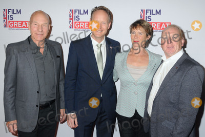 Adrian Scarborough, Celia Imrie, Patrick Stewart, The 88, Chris O'Connor Photo - 26 February 2016 - West Hollywood, California - Patrick Stewart, Chris O'Connor, Celia Imrie, Adrian Scarborough. The Film is GREAT Reception Honoring British Nominees of the 88th Annual Academy Awards held at Fig & Olive. Photo Credit: Byron Purvis/AdMedia