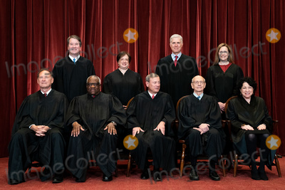 Supremes, The Supremes, The Unit, CLARENCE THOMAS, Group Photo, Supreme Court Photo - Members of the Supreme Court pose for a group photo at the Supreme Court in Washington, DC on April 23, 2021. Seated from left: Associate Justice of the Supreme Court Samuel A. Alito, Jr., Associate Justice of the Supreme Court Clarence Thomas, Chief Justice of the United States John G. Roberts, Jr., Associate Justice of the Supreme Court Stephen G. Breyer, and Associate Justice of the Supreme Court Sonia Sotomayor, Standing from left: Associate Justice of the Supreme Court Brett Kavanaugh, Associate Justice of the Supreme Court Elena Kagan, Associate Justice of the Supreme Court Neil M. Gorsuch and Associate Justice of the Supreme Court Amy Coney Barrett. Credit: Erin Schaff / Pool via CNP/AdMedia