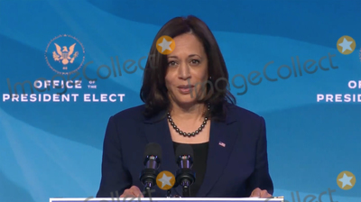 Joe Biden, Queen, Kamala Harris, Biden Transition Photo - United States Vice President-elect Kamala Harris makes remarks after US President-elect Joe Biden made remarks introducing key members of his economic and jobs team from the Queen Theatre in Wilmington, Delaware on Friday, January 8, 2021. Credit: Biden Transition TV via CNP/AdMedia