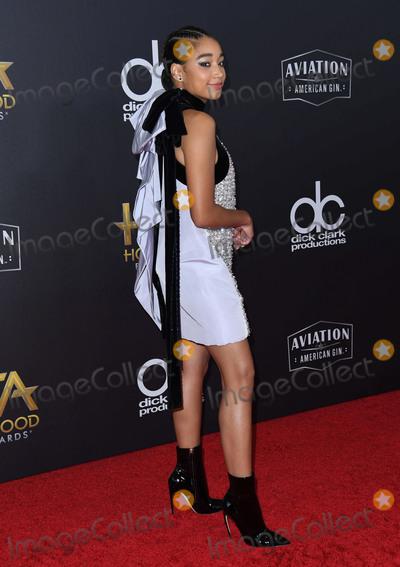 Amandela Stenberg Photo - 04 November 2018 - Beverly Hills, California - Amandela Stenberg. 22nd Annual Hollywood Film Awards held at Beverly Hilton Hotel. Photo Credit: Birdie Thompson/AdMedia