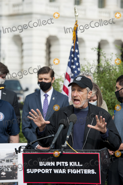 Jon Stewart, The Used Photo - Comedian Jon Stewart, offers remarks during a press conference regarding legislation to assist veterans exposed to burn pits, outside the US Capitol in Washington, DC., Tuesday, September 15, 2020. Credit: Rod Lamkey / CNP/AdMedia