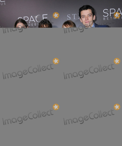 """Carla Gugino, Janet Montgomery, Britt Robertson, Asa Butterfield Photo - 17 January 2017 - Hollywood, California - Janet Montgomery, Carla Gugino, Britt Robertson, Asa Butterfield. 2017 """"The Space Between Us"""" special Los Angeles screening held at Arclight Hollywood. Photo Credit: Birdie Thompson/AdMedia"""