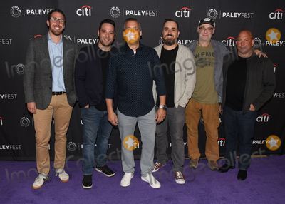 """Ben Newmark, Joe Gatto, Dan Newmark, Brian Quinn, Andy Breckman, Joe Corré, Michael Bublé, Michael Paré Photo - 13 September 2019 - Beverly Hills, California - (L-R) Dan Newmark, Joe Gatto, Brian Quinn, Ben Newmark, Andy Breckman and Michael Bloom. """"The Misery Index"""" at The Paley Center For Media's 13th Annual PaleyFest Fall TV Previews - TBS. Photo Credit: Billy Bennight/AdMedia"""