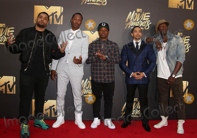 Aldis Hodge, Common, Aldis Hodges, Corey Hawkins, O'Shea Jackson Photo - 09 April 2016 - Burbank, California - O'Shea Jackson Jr., Corey Hawkins, recording artist Common, actors Neil Brown Jr. and Aldis Hodge. 2016 MTV Movie Awards held at Warner Bros. Studios. Photo Credit: Sammi/AdMedia