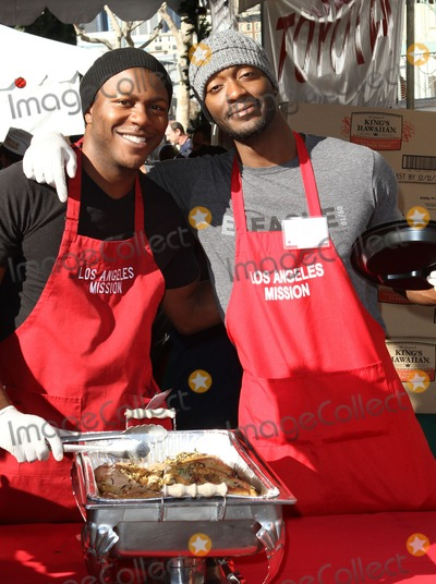 Aldis Hodge, Edwin Hodge, Aldis Hodges Photo - 23 December 2011 - Los Angeles, California - Edwin Hodge and Aldis Hodge. 78th Los Angeles Mission Christmas Meal For The Homeless Held At LA Mission. Photo Credit: Kevan Brooks/AdMedia