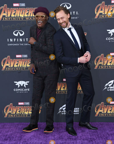 "Samuel L. Jackson, Tom Hiddleston, Tom Hiddlestone, Tom   Hiddleston, Samuel L.Jackson Photo - 23 April 2018 -  Hollywood, California - Samuel L. Jackson, Tom Hiddleston. Disney and Marvel's ""Avengers: Infinity War"" Los Angeles Premiere held at Dolby Theater. Photo Credit: Birdie Thompson/AdMedia"