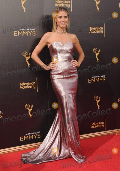 Heidi Klum Photo - 11 September 2016 - Los Angeles, California. Heidi Klum. 2016 Creative Arts Emmy Awards - Day 2 held at Microsoft Theater. Photo Credit: Birdie Thompson/AdMedia