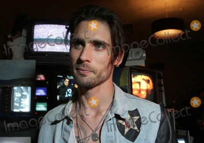 """Tyson Ritter, All-American Rejects, IAM, The All-American Rejects Photo - 26 March 2012 - Los Angeles, California - Tyson Ritter. The All American Rejects Record Release Party For New Album """"Kids In The Street"""" Held At The iam8bit gallery. Photo Credit: Faye Sadou/AdMedia"""