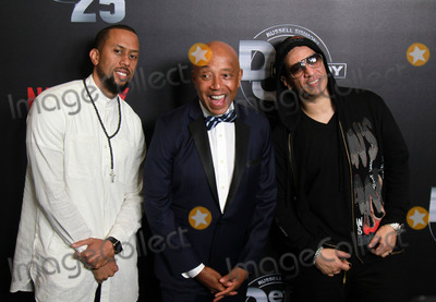 """Affion Crockett, Kid Capri, Russell Simmons, RUSSEL SIMMONS Photo - 10 September 2017 - Beverly Hills, California - Affion Crockett, Russell Simmons, Kid Capri. Netflix """"Def Comedy Jam 25"""" held at The Beverly Hilton. Photo Credit: Theresa Bouche/AdMedia"""