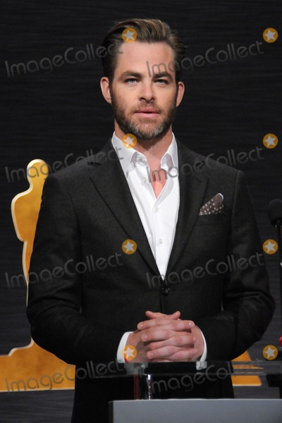 Chris Pine Photo - 15 January 2015 - Los Angeles, California - Chris Pine. 87th Annual Academy Awards Nominations Announcements. Photo Credit: Byron Purvis/AdMedia