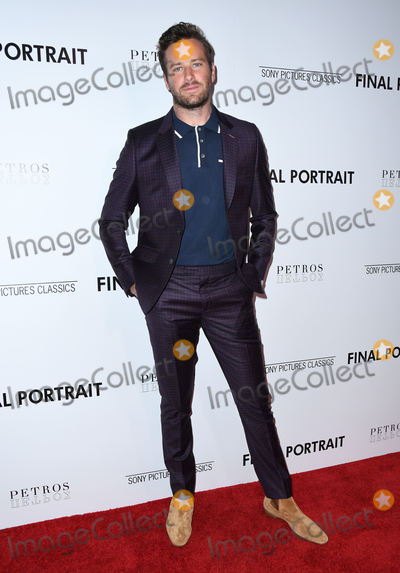 "Armie Hammer Photo - 19 March 2018 - West Hollywood, California - Armie Hammer . ""Final Portrait"" Los Angeles Special Screening held at The Pacific Design Center. Photo Credit: Birdie Thompson/AdMedia"