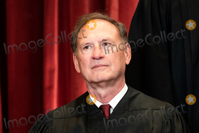 Supremes, The Supremes, Group Photo, Supreme Court Photo - Associate Justice of the Supreme Court Samuel A. Alito, Jr. sits during a group photo of the Justices at the Supreme Court in Washington, DC on April 23, 2021. Credit: Erin Schaff / Pool via CNP/AdMedia