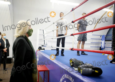 Duchess of Cornwall Photo - 13 October 2020 - Camilla Duchess of Cornwall visit the boxing club, Dwaynamics. HRH will tour the facilities, meet staff and students and learn about the services they provide for young people in the local community in Brixton, South London. Photo Credit: ALPR/AdMedia
