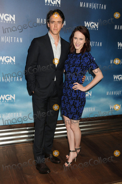 "Rachel Brosnahan, Ashley Zukerman Photo - 29 July 2015 - Beverly Hills, California - Ashley Zukerman, Rachel Brosnahan. ""Manhattan"" Summer TCA Panel held at the Beverly Hilton Hotel. Photo Credit: Byron Purvis/AdMedia"