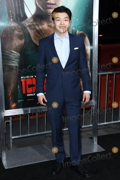 "Alex Shibutani, TCL Chinese Theatre Photo - 12 March 2018 - Hollywood, California - Alex Shibutani. ""Tomb Raider"" Los Angeles Premiere held at TCL Chinese Theatre. Photo Credit: Birdie Thompson/AdMedia"