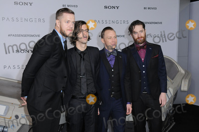 "Imagine Dragons Photo - 14 December 2016 - Westwood, California - Imagine Dragons. The Los Angeles premiere of ""Passengers"" held at Regency Village Theatre. Photo Credit: Birdie Thompson/AdMedia"