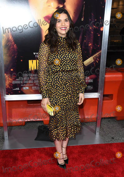 "America Ferrera Photo - 30 January 2019 - Los Angeles, California - America Ferrera. ""Miss Bala"" Los Angeles Premiere held at Regal Cinemas LA Live. Photo Credit: Birdie Thompson/AdMedia"