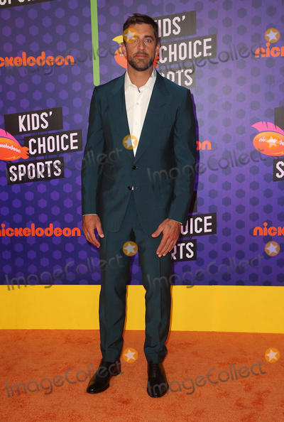 Aaron Rodgers Photo - 19 July 2018 - Santa Monica, California - Aaron Rodgers. Nickelodeon Kids' Choice Sports Awards 2018 held at Barker Hangar. Photo Credit: Faye Sadou/AdMedia