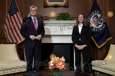 Cassidy, Supremes, The Used, Bill Cassidy, Supreme Court Photo - United States Senator Bill Cassidy (Republican of Louisiana) participates in a photo op with US President Donald J. Trumps US Supreme Court nominee Judge Amy Coney Barrett in the Mansfield Room of the US Capitol prior to their meeting on Thursday, October 1, 2020.Credit: Greg Nash / Pool via CNP/AdMedia