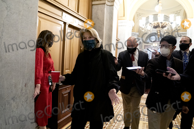 Alaska !, alaska!, Donald Trump, Injected, Lisa Murkowski, Trump Impeachment Photo - Senator Lisa Murkowski, a Republican from Alaska, wears a protective mask while arriving to the U.S. Capitol in Washington, D.C., U.S., on Saturday, Feb. 13, 2021. The Senate voted to consider a request for witnesses at Donald Trump's impeachment trial, injecting a chaotic new element that could end up prolonging proceedings that appeared to be on track to wrap up today.Credit: Stefani Reynolds - Pool via CNP/AdMedia