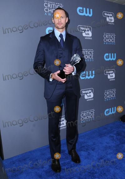 Aleaxnder Skarsgard Photo - 11 January 2018 - Santa Monica, California - Aleaxnder Skarsgard. 23rd Annual Critics' Choice Awards held at Barker Hangar. Photo Credit: Birdie Thompson/AdMedia