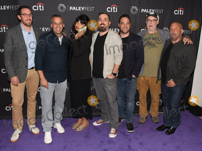 """Ben Newmark, Jameela Jamil, Joe Gatto, Dan Newmark, Brian Quinn, Andy Breckman, Joe Corré, Michael Bublé, Michael Paré Photo - 13 September 2019 - Beverly Hills, California - (L-R) Dan Newmark, Joe Gatto, Jameela Jamil, Brian Quinn, Ben Newmark, Andy Breckman and Michael Bloom. """"The Misery Index"""" at The Paley Center For Media's 13th Annual PaleyFest Fall TV Previews - TBS. Photo Credit: Billy Bennight/AdMedia"""