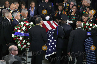 """Elijah Cummings, Alex Wong Photo - Members of the Congressional Black Caucus pay respect during a memorial service for the late United States Representative Elijah Cummings (Democrat of Maryland) at the Statuary Hall of the U.S. Capitol October 24, 2019 in Washington, DC. Rep. Cummings passed away on October 17, 2019 at the age of 68 from """"complications concerning longstanding health challenges."""" Credit: Alex Wong / Pool via CNP/AdMedia"""