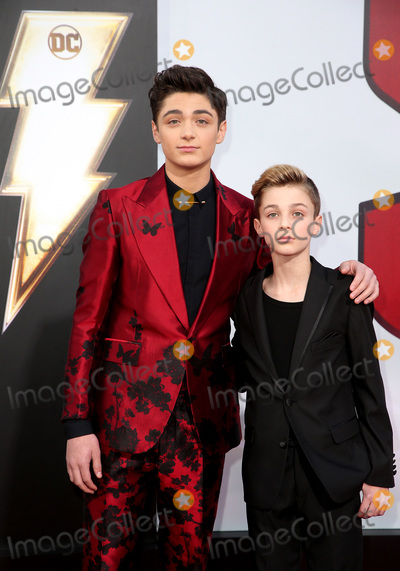 """TCL Chinese Theatre, Asher Angel, Avi Angel Photo - 28 March 2019 - Hollywood, California - Asher Angel, Avi Angel. Warner Bros. Pictures and New Line Cinema World Premiere of """"SHAZAM!"""" held at TCL Chinese Theatre. Photo Credit: Faye Sadou/AdMedia"""