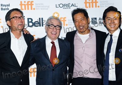 """Justin Chon, Martin Scorsese, Andrew Lau, Andrew Loo Photo - 10 September 2014 - Toronto, Canada - Andrew Lau, Martin Scorsese, Andrew Loo, Justin Chon. """"Revenge Of The Green Dragons"""" Premiere during the 2014 Toronto International Film Festival held at the Ryerson Theatre. Photo Credit: Brent Perniac/AdMedia"""
