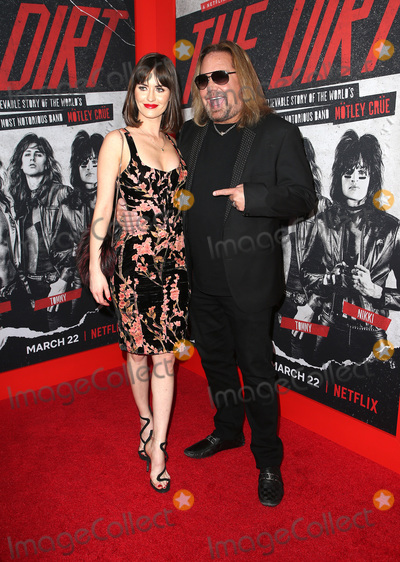 """Vince Neil, Alexanne Wagner Photo - 18 March 2019 - Hollywood, California - Alexanne Wagner, Vince Neil. Netflix's """"The Dirt"""" World Premiere held at The Wolf Theatre at The ArcLight Cinemas Cinerama Dome. Photo Credit: Faye Sadou/AdMedia"""