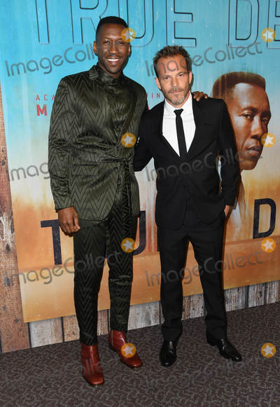 "Ali Stephens, Stephen Dorff, Mahershala Ali, Ali Farka Touré Photo - 10 January 2019 - Hollywood, California - Mahershala Ali, Stephen Dorff . ""True Detective"" third season premiere held at Directors Guild of America. Photo Credit: Birdie Thompson/AdMedia"