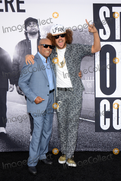 """Berry Gordy, Redfoo Photo - 10 August 2015 - Los Angeles, California - Berry Gordy, Redfoo. Premiere Of Universal Pictures And Legendary Pictures' """"Straight Outta Compton"""" held at Microsoft Theater. Photo Credit: Tonya Wise/AdMedia"""