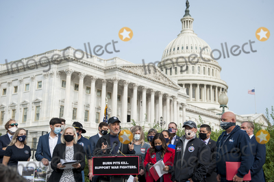 Jon Stewart, The Used Photo - Comedian Jon Stewart, offers remarks during a press conference regarding legislation to assist veterans exposed to burn pits, outside the US Capitol in Washington, DC., Tuesday, September 15, 2020. 
