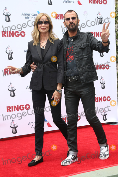 Ringo Starr, Barbara Bach Photo - 07 July 2015 - Hollywood, California - Ringo Starr attends his 75th birthday fan gathering at Capitol Records. Photo Credit: F. Sadou/AdMedia