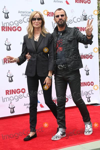 Ringo Starr, Barbara Bach Photo - 07 July 2015 - Hollywood, California - Ringo Starr attends his 75th birthday fan gathering at Capitol Records. Photo Credit: F. Sadou/AdMedia