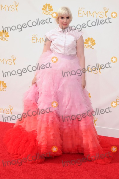 Lena Dunham Photo - 25 August 2014 - Los Angeles, California - Lena Dunham. 66th Annual Primetime Emmy Awards - Arrivals held at Nokia Theatre LA Live. Photo Credit: Byron Purvis/AdMedia