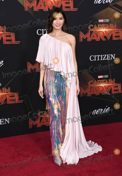 "Gemma Chan Photo - 04 March 2019 - Hollywood, California - Gemma Chan. ""Captain Marvel"" Los Angeles Premiere held at El Capitan Theater. Photo Credit: Birdie Thompson/AdMedia"