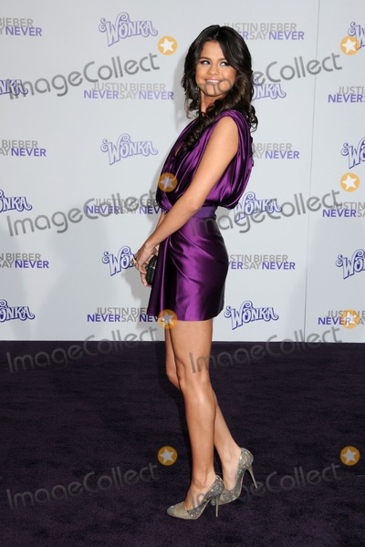 """Selena Gomez, Gomez, Justin Bieber Photo - 8 February 2011 - Los Angeles, California - Selena Gomez. """"Justin Bieber: Never Say Never"""" Los Angeles Premiere held at Nokia Theater L.A. Live. Photo: Byron Purvis/AdMedia"""