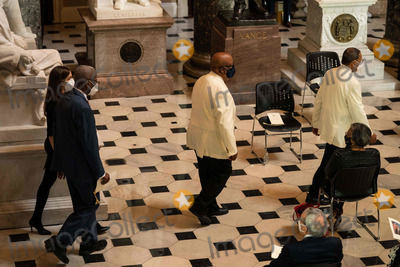 Alcee Hastings Photo - Members arrive to a ceremony celebrating the life of the late US Representative Alcee Hastings (Democrat of Florida), in Statuary Hall of the Capitol in Washington DC on April 21st, 2021.Credit: Anna Moneymaker / Pool via CNP/AdMedia