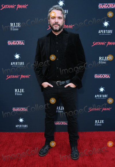 "AJ Bowen Photo - 23 August 2019 - Hollywood, California - AJ Bowen. ""Satanic Panic"" Los Angeles Premiere held at The Egyptian Theatre. Photo Credit: Birdie Thompson/AdMedia"
